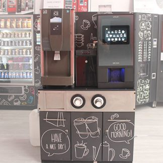 dispensing maquina de hielo y cafe